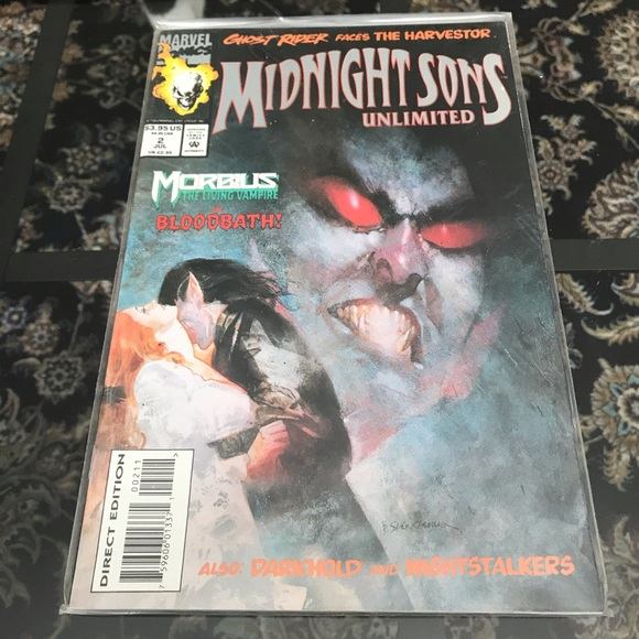 Midnight Sons Unlimited Issue 3 Comic Book Marvel
